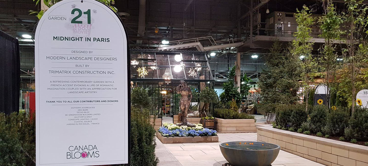 Midnight in Paris Awarded Outstanding Medium Garden at Canada Blooms 2018!