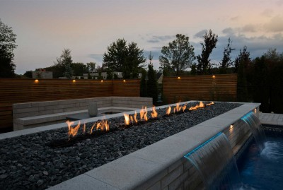 King City Backyard Pool Lighting