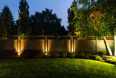 Back Fence Lighting After