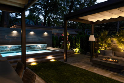 Conscape Backyard Lighting Rosedale
