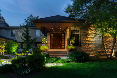 Markham Front Yard Lighting After
