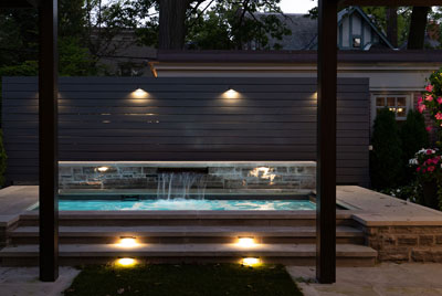 Rosedale Backyard Pool Lighting